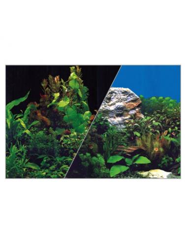 ZOLUX - Poster de fond Noir/Plante - 40x30cm