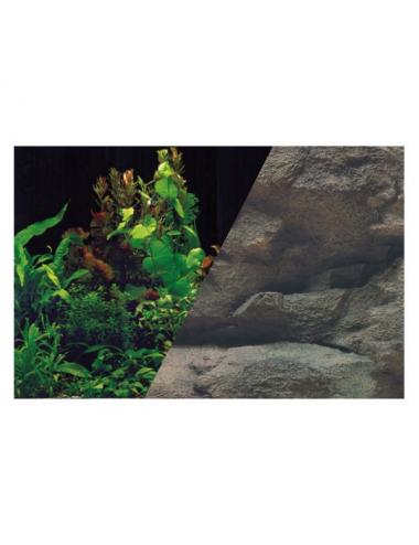 ZOLUX - Poster de fond Rocher/Plante - 80x50cm