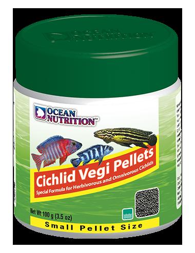 OCEAN NUTRITIONS - Cichlid Vegi Pellets Small - 100g - Nourriture pour cichlidés végétariens