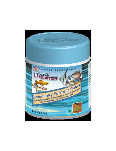 OCEAN NUTRITIONS - Community Formula Flakes  - 34g - Nourriture flocons pour poissons