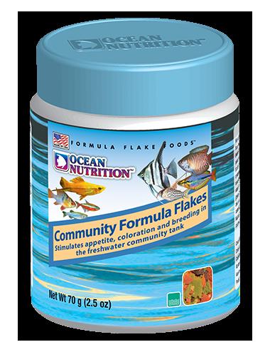 OCEAN NUTRITIONS - Community Formula Flakes - 70g - Nourriture flocons pour poissons