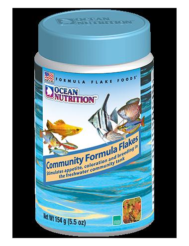 OCEAN NUTRITIONS - Community Formula Flakes - 156g - Nourriture flocons pour poissons