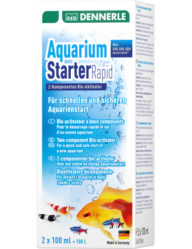 DENNERLE - Aquarium Starter Rapid - 2x100ml - Activateur biologique