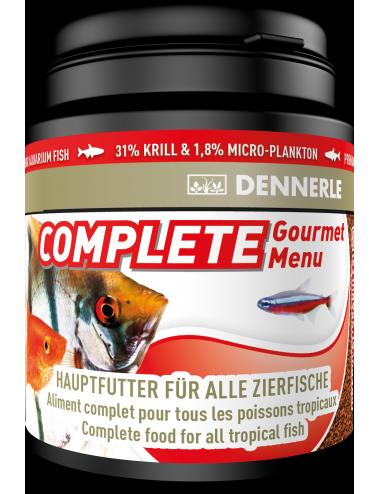 DENNERLE - Complete Groumet Menu - 200ml - Aliment complet granulés pour poissons