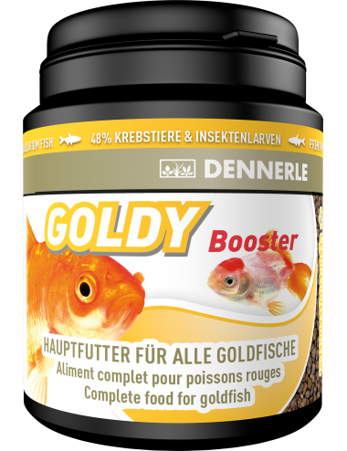 DENNERLE - Goldy Booster - 200ml - Aliment complet pour poissons rouges