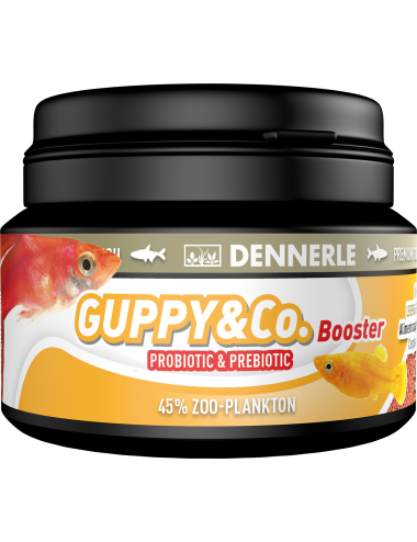DENNERLE - Booster Guppy & CO. - 100ml - Aliment complet pour les guppys