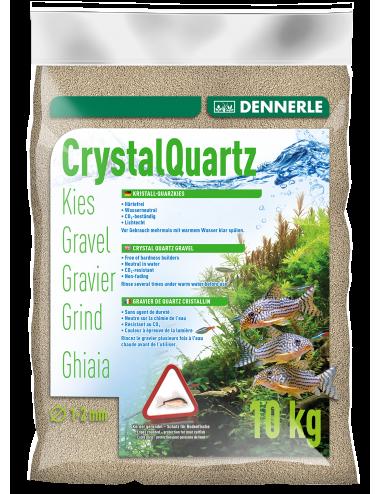 DENNERLE - Crytal Quartz - 10kg - Gravier quartz blanc naturel (1 à 2 mm)