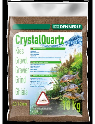 DENNERLE - Crytal Quartz - 10kg - Gravier quartz Brun Foncé (1 à 2 mm)