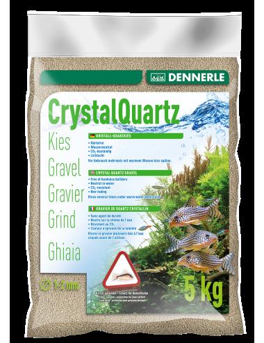 DENNERLE - Crytal Quartz - 5kg - Gravier quartz blanc naturel (1 à 2 mm)