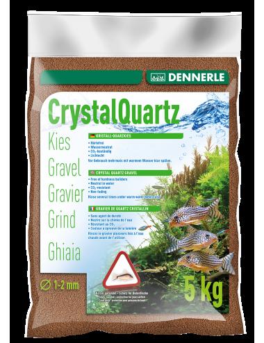 DENNERLE - Crytal Quartz - 5kg - Gravier quartz Brun Foncé (1 à 2 mm)