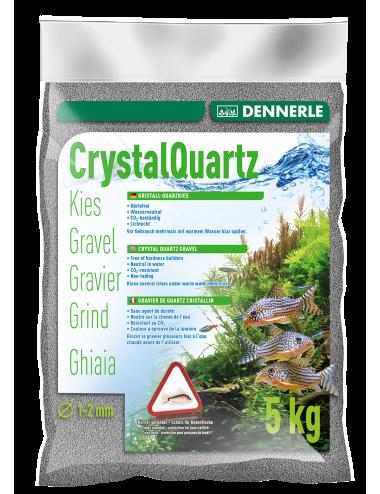 DENNERLE - Crytal Quartz - 5kg - Gravier quartz Gris ardoise (1 à 2 mm)