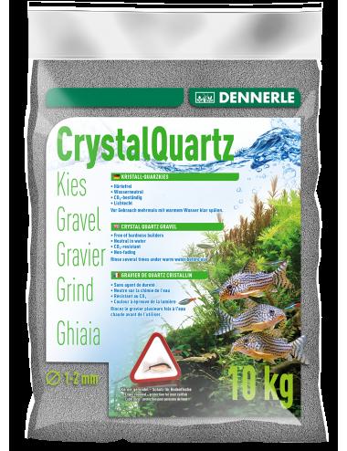 DENNERLE - Crytal Quartz - 10kg - Gravier quartz Gris ardoise (1 à 2 mm)