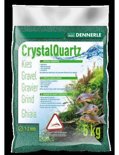 DENNERLE - Crytal Quartz - 5kg - Gravier vert mousse (1 à 2 mm)