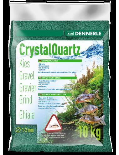 DENNERLE - Crytal Quartz - 10kg - Gravier vert mousse (1 à 2 mm)