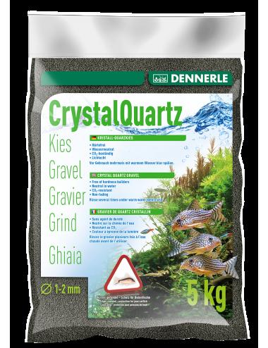 DENNERLE - Crytal Quartz - 5kg - Gravier Noir diamant (1 à 2 mm)
