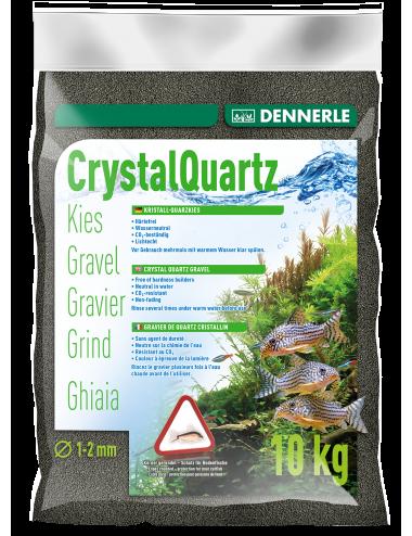 DENNERLE - Crytal Quartz - 10kg - Gravier Noir diamant (1 à 2 mm)