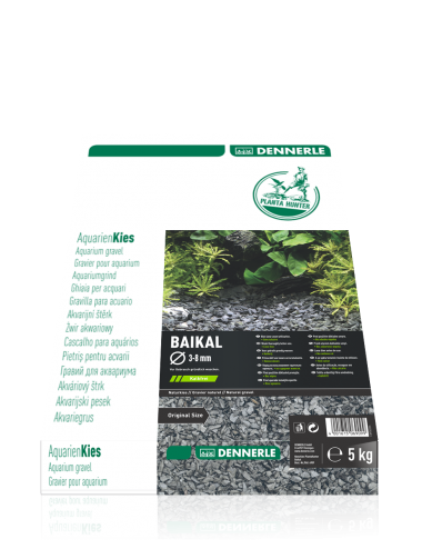 DENNERLE - Plantahunter Baikal - 5kg (3-8 mm) - Gravier plat noir