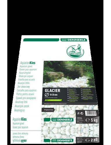 DENNERLE - Plantahunter Kies Glacier - 5kg (10- 20mm) - Galets de rivière blancs
