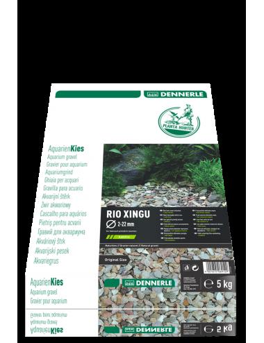 DENNERLE - Plantahunter Kies Rio Xingu - 5kg (2- 22mm) - Galets de rivière blancs