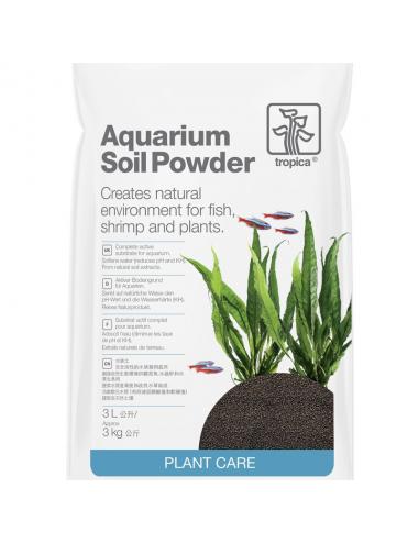 TROPICA - Aquarium Soil Powder - 3l - Substrat nutritif pour aquarium