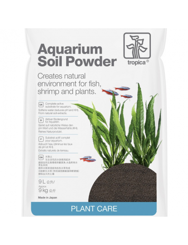 TROPICA - Aquarium Soil Powder - 9l - Substrat nutritif pour aquarium