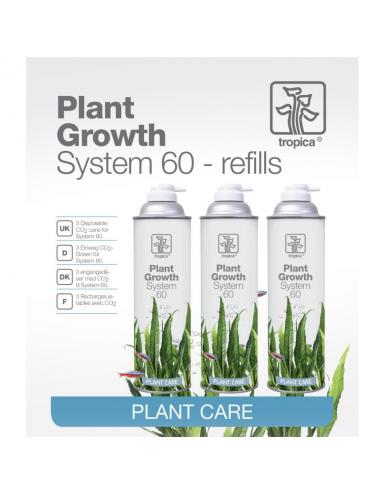 TROPICA - Plant Growth System 60 refill - Lot de 3 bouteilles CO2