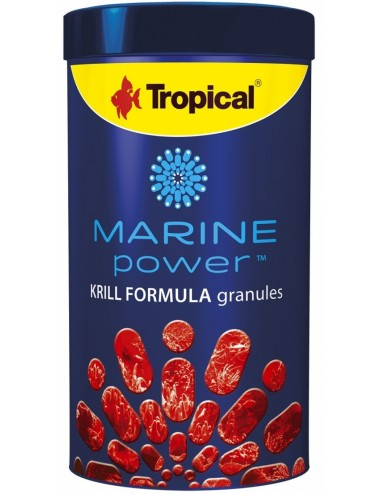 TROPICAL - Marine Power Krill - 250ml - Nourriture en granulés pour poissons marins