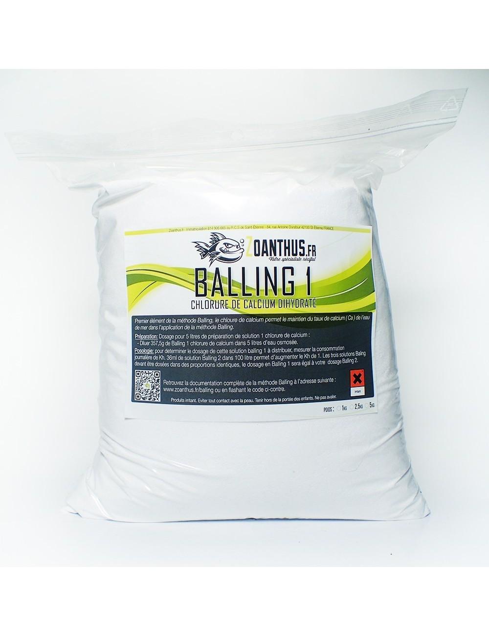 - ZOANTHUS.fr 2.5kg Balling 1 Chlorure de calcium dihydraté recharge