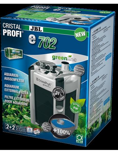 JBL - Filtre CristalProfi e702 greenline - Filtre extérieur pour aquariums de 60 à 200 litres