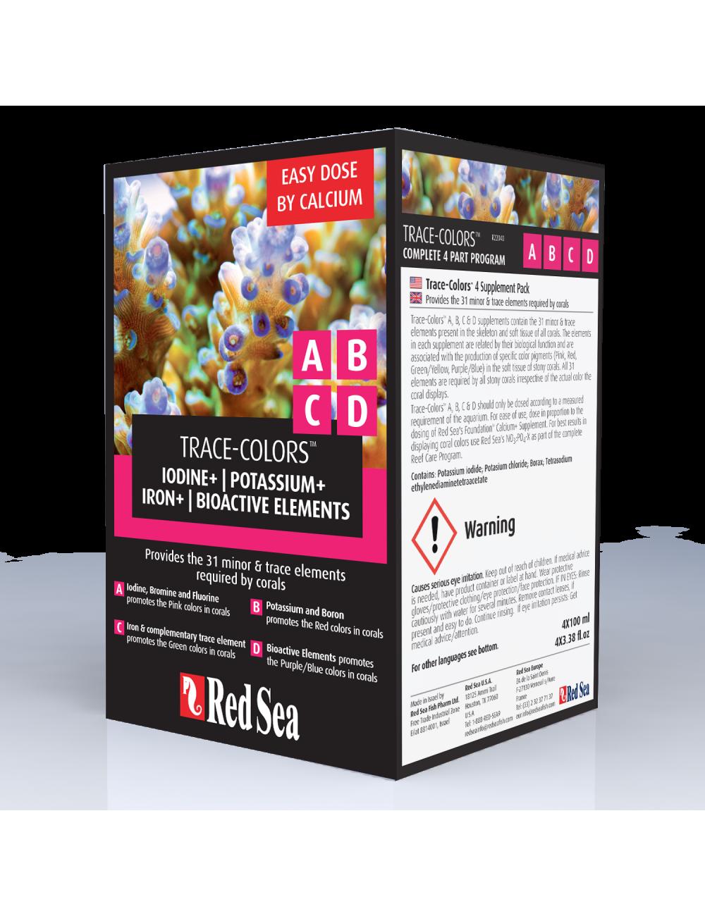 Red Sea - Trace Colors Nanokit - 4X100ml