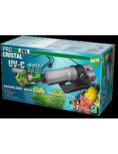 JBL - ProCristal Compact - UV-C 11W - Filtre UV pour aquarium jusqu'à 300l