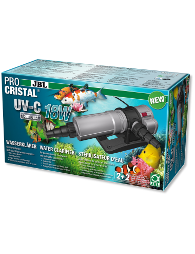 JBL - ProCristal Compact - UV-C 18W - Filtre UV pour aquarium jusqu'à 1500l