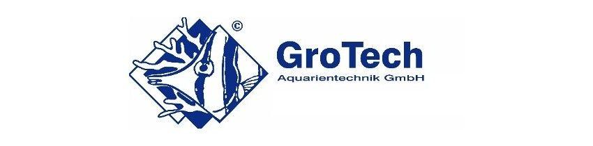 Tous les produits Grotech : matériel pour aquarium, chauffage, ventilateur, nourriture pour poisson et coraux, compléments ...
