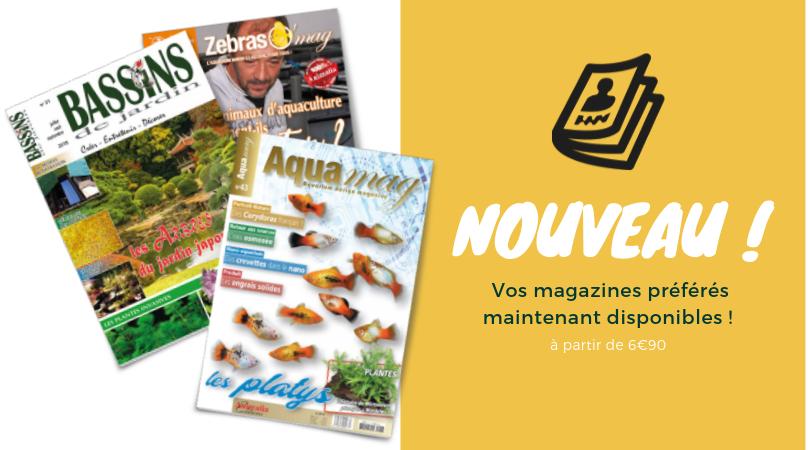 Magazines aquariophilie et bassin de jardin
